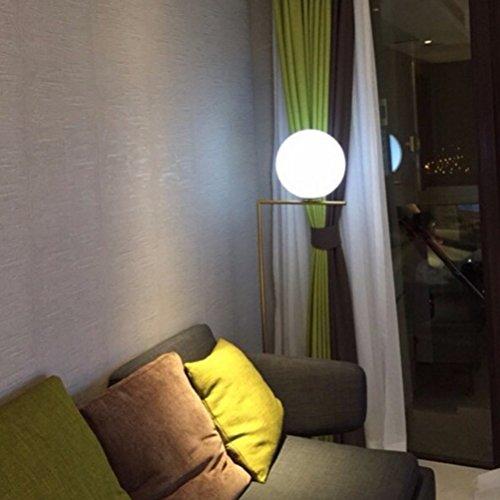 Clothes UK- E27 Creative Glass Round Ball - Lámpara de pie, 1 luz, Blanco, luz, lámpara de pie, con Base Redonda, en latón Lámpara de Piso (Tamaño : L)