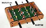 DonRegaloWeb - Futbolín de sobremesa de madera decorado en color marrón.
