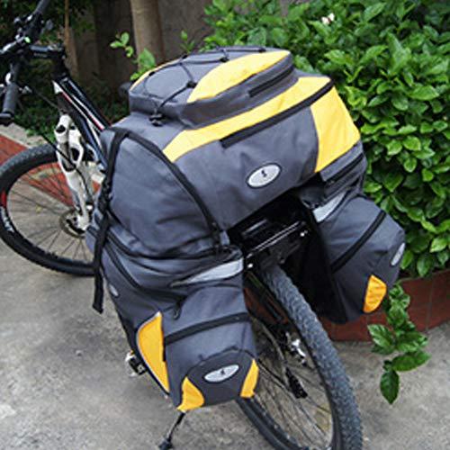 EODUDO-S 3 in 1 Große Kapazität Fahrrad Rücksitz Gepäcktasche Fit für Radfahren Reise mit Regenschutz Fahrrad Gepäcktasche Gepäcktasche, Weitere Stile (Farbe : Gelb)