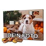 PhotoFancy - Hunde-Adventskalender mit eigenem Foto personalisiert - mit Hunde Leckerlis gefüllt - Weihnachtskalender für Hunde