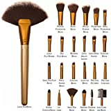 Allin Exporters 24 Pieces Professional Makeup Brush Set With Travel And Carry Case Travel Makeup Brush Fan, Foundation...