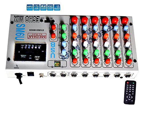 Medha D.J. Plus 6 Stero Echo Mixer Amplifiers With USB