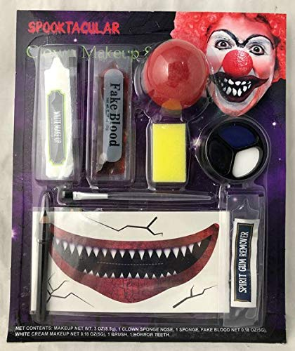 HALLOWEEN MAKE-UP MAKE-UP GESICHTSFARBE ZOMBIE VAMPIR HEXE CLOWN DEVIL FAMILIEN SET ROT WEIß SCHWARZ - Horror Clown Schminke Satz (Clown Halloween-make-up Zombie)