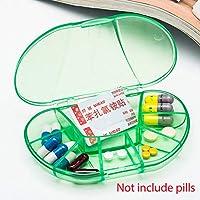 Pillendose mit 8 Fächern, tragbar, transparent, Tasche für Tabletten und Vitamine preisvergleich bei billige-tabletten.eu