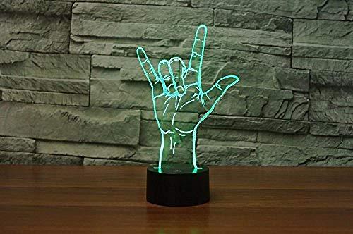 Led Nachtlicht Usb Ich Liebe Dich Gebärdensprache Erstaunlich 7 Farben Acryl Touch Desk Schreibtisch Nachtlicht Mit Linie Kinderzimmer (Sie In Gebärdensprache)
