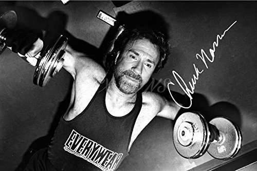 Chuck Norris unterzeichnet Foto Print–großartige Qualität–30,5x 20,3cm - Ranger-foto Texas Walker