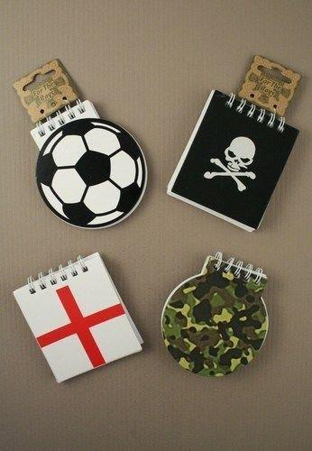1 Jungen Fußball Schädel St George Camouflage Notizblock Notebook Party Tasche Gunst