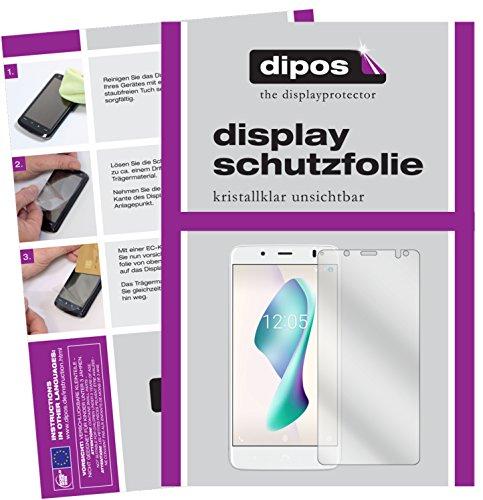 dipos I 2X Schutzfolie klar passend für BQ Aquaris VS Plus Folie Bildschirmschutzfolie