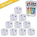 【Neue Version】 10pcs Mini Unterwasser LED Licht, ALED LIGHT 13 Farben RGB Mehrfarbige Mini LED...