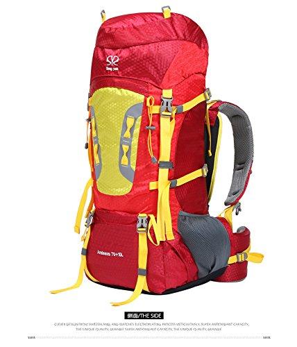 YYY-Sport outdoor zaino escursionismo spalle tempo libero alpinismo borsa viaggio , green Red