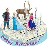 Frozen - Die Eiskönigin - Figuras decorativas para tarta (5 unidades), diseño de Frozen