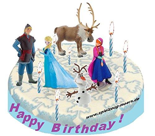 Frozen - Die Eiskönigin völlig unverfroren Tortendeko Set 5 Figuren - Kuchendeko - Figuren für Kuchen & Torten