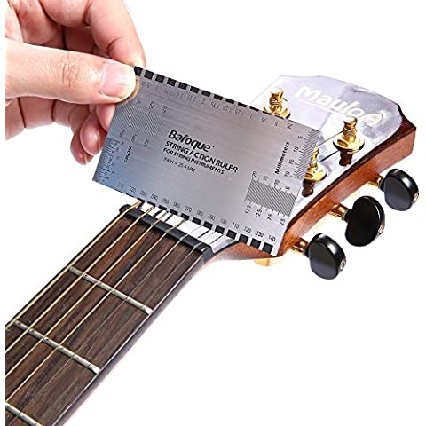 Neewer® String Acción Gauge Guía Gobernante Guitarra Configuración herramienta de medición Luthier