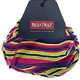 Maximo Kinder-Mädchen Multifunktionstuch Loop Ringel lila-pink, Gr. 1 ca. 45-49 (1)