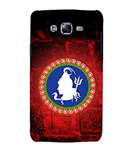 Lord Shiva logo 3D Hard Polycarbonate Designer Back Case Cover for Samsung Galaxy J7 (2015) :: Samsung Galaxy J7 J700F (Old Version)