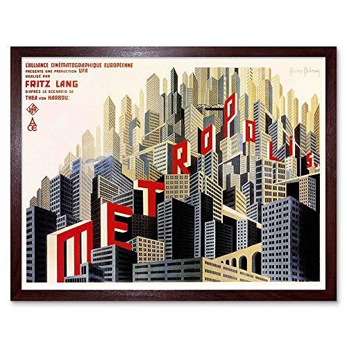 Wee Blue Coo LTD Movie Film Metropolis Sci Fi Drama Class Study City Art Print Framed Poster Wall Decor Kunstdruck Poster Wand-Dekor-12X16 Zoll -