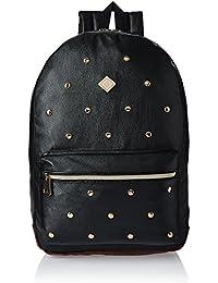 HOOM Synthetic Black School Backpack (HMSOSB 009-HM(Black))