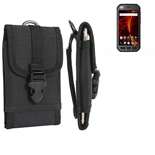 K-S-Trade Handyhülle für Caterpillar Cat S41 Dual-SIM Gürteltasche Handytasche Gürtel Tasche Schutzhülle Robuste Handy Schutz Hülle Tasche Outdoor schwarz