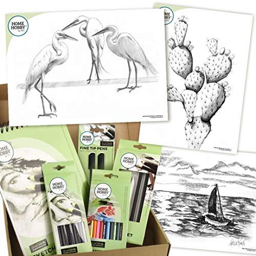 HomeHobby by 3L Sketch Studio Kit Plus - Drei Egrets von Robin Berry - Intermediate, Multipule, One Size -