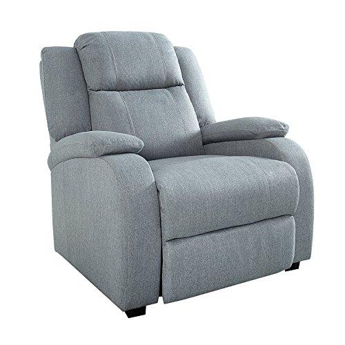 Invicta Interior Relaxsessel Hollywood hellgrau Stoff verstellbar Liegesessel Sessel Fernsehsessel Wohnzimmer mit Liegefunktion Strukturstoff - Wohnzimmer-moderne Sessel