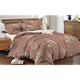 AC Comforter Set (4 Piece Combo Set Of Brownie Comforter And King Size Bedsheet With 2 Pillow Covers)
