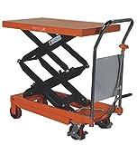 350kg Double Vertical Scissor Lift Hydraulic Platform Table Trolley Cart Truck