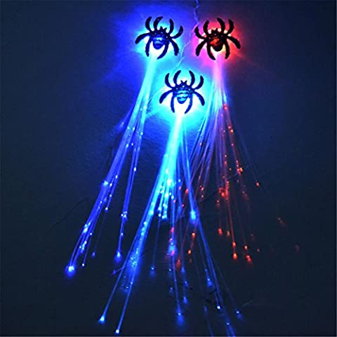 Braguettes de fibre clignotante Braguettes lumineuses Peluches de Noël d'Halloween Prothèses décoratives ,