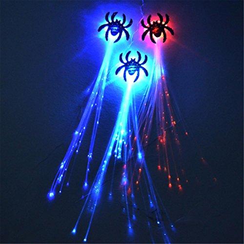 Blinkende Fasergeflechte Leuchtende Zöpfe Halloween Weihnachtsperücken Dekorative Stützen , B