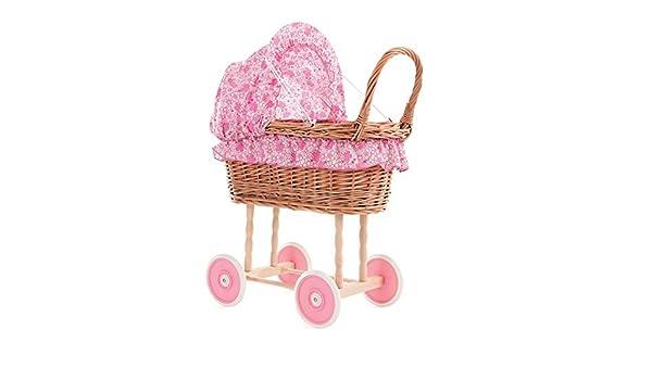 Stubenwagen für die puppe bettzeug blümchen pink amazon