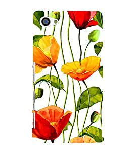 Flower Wallpaper 3D Hard Polycarbonate Designer Back Case Cover for Sony Xperia Z5 Compact :: Sony Xperia Z5 Mini