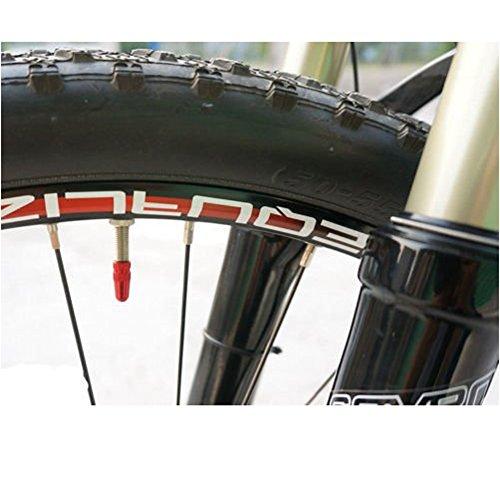 5x Fahrrad Presta Felgen Reifenstammluftventilkappen Staubschutz Rot - 5