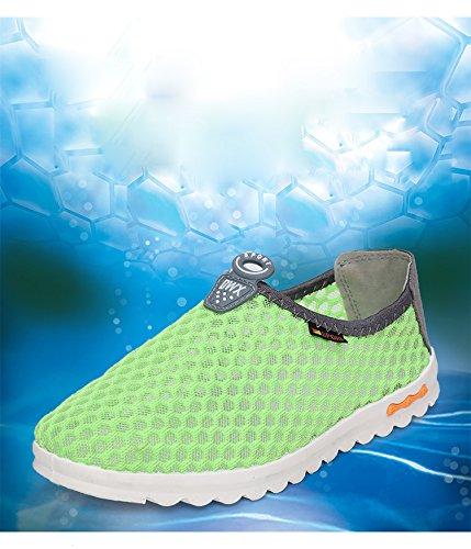 Gaorui Damen Laufschuhe Mesh atmungsaktiv leichte Turnschuhe Sportschuhe Blau Grün