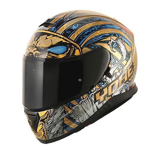 NJ Helm- Elektrischer Motorradhelm, Unisex-Vollhelm, Regen- und UV-Schutzhelm (Color : B, Size : XXL)