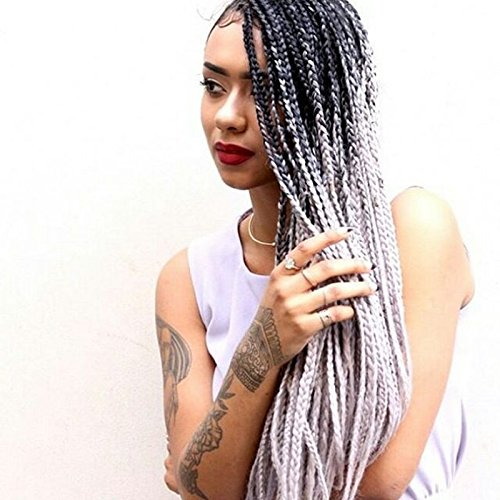 eseewigs Billig geflochten Synthetische Lace Front Perücken für schwarz Frauen 5Farben
