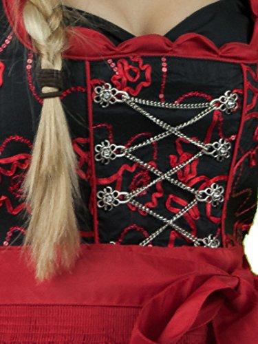 Zauberhaftes Dirndl schwarz rot 70er Länge Schwarz / Rot