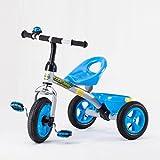 Great St. DGF Enfants Tricycle 3-6 Ans Bébé Poussette Jouet Voiture Vélo Gratuit Gonflable Enfants Vélo ( Color : Blue )