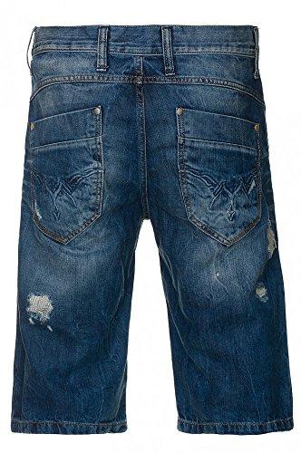Jeans Caprihose Jeansblau