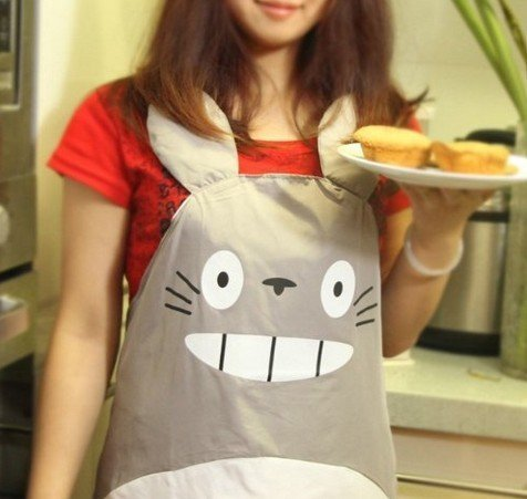 ERGEOB® Studio Ghibli My Neighbor Totoro Gray Apron Küche Schuerze Home Wear Cosplay - 5