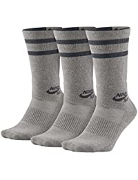 Nike SB 3PPK Crew Socks - Calcetines, Unisex Adulto, (DK Grey Heather/