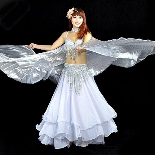 Calcifer® Marke neue Ägyptische Ägypten Belly Dance Flügel Isis Flügel Kostüm Geschenk für Big Party Weihnachten, (Kostüme Isis)
