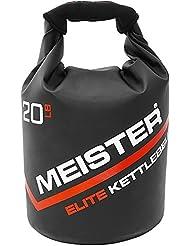 Meister Elite portátil arena pesa rusa–suave (peso–10/15/20LB, Negro