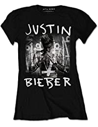 Justin Bieber Purpose Album Cover Black Womens T-Shirt