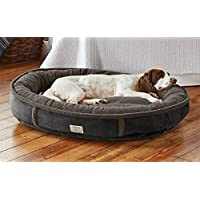 Orvis Comfortfill Wraparound Dog Bed With Fleece / Large Dogs 60-90 Lbs., Slate,