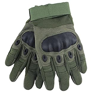 ANDAY Unisex Outdoor Sports Climbing Gloves Non-Slip Full Finger Durable Wrist Gloves for Fitness Riding Bike Working Army Green