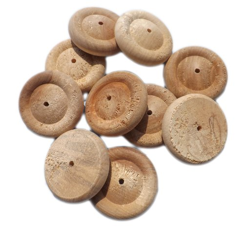 10 x 50mm / 2 inch Wooden Birch Wheels for Toys / Models etc.