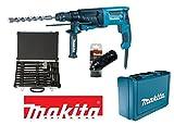 Trapano martello demolitore/Tassellatore 26mm 800W + Mandrino autoserrante + set punte e scalpelli Makita - HR2630TX12 (Cod.:4699)