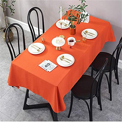 SONGHJ Baumwolle Flachs einfarbig Tischdecke Küche Wohnzimmer zu Hause wasserdicht Tischdecke rechteck Hochzeit Weihnachten tischdecke D 70 × 70 cm / - Kostüm D'halloween Indienne