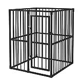 vidaXL Chenil Extérieur Robuste pour Chiens Cage pour Chien Enclos Jardin