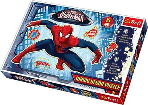 TREFL - Puzzle Spiderman de 15 Piezas (39.8x26.6 cm) (14600) (Importado)