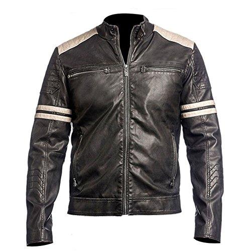 MDM Biker Biker en cuir style r/étro